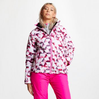 Dare 2b - Women's Encompass Printed Ski Jacket Cyber Pink