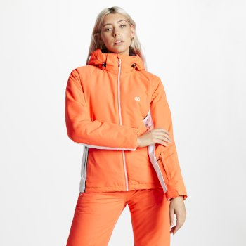 Women's Thrive Ski Jacket Fiery Coral