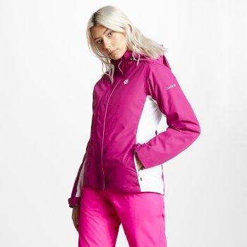 Women's Urgency Ski Jacket Fuchsia White