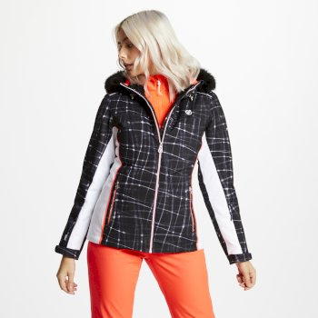Dare 2b - Women's Copious Printed Ski Jacket Black Energy