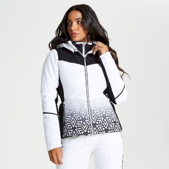 Dare 2b - Women's Iceglaze Faux Fur Trim Luxe Ski Jacket White