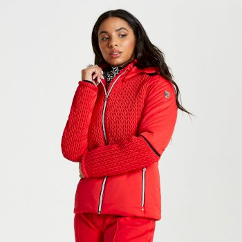 Dare 2b - Women's Manifesto Faux Fur Trim Luxe Ski Jacket Lollipop