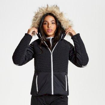 Dare 2b - Women's Manifesto Faux Fur Trim Luxe Ski Jacket Black