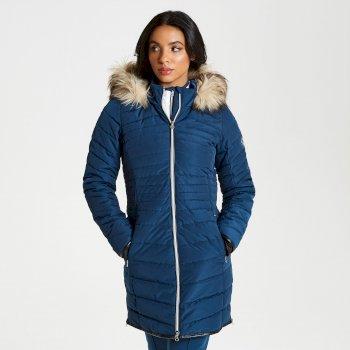 Damski płaszcz narciarski Dare2b Striking Luxe granat