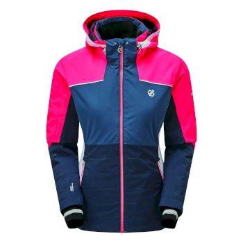 Dare 2b - Women's Flourish Waterproof Insulated Hooded Ski Jacket Nightfall Navy Dark Denim