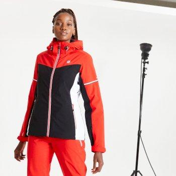 Damska kurtka narciarska Dare2B Enclave czerwona - czarna