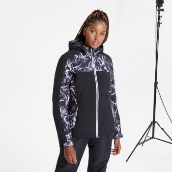 Dare 2b - Women's Burgeon Waterproof Insulated Hooded Ski Jacket Black