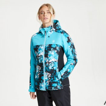 Dare 2b - Women's Burgeon Waterproof Insulated Hooded Ski Jacket Azure Blue
