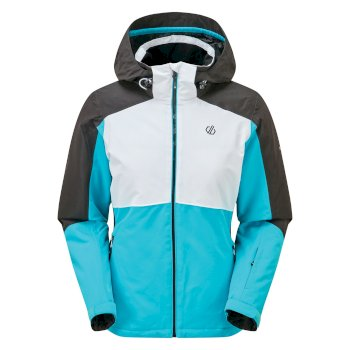 Dare 2b - Women's Radiate Waterproof Insulated Hooded Ski Jacket Azure Blue White