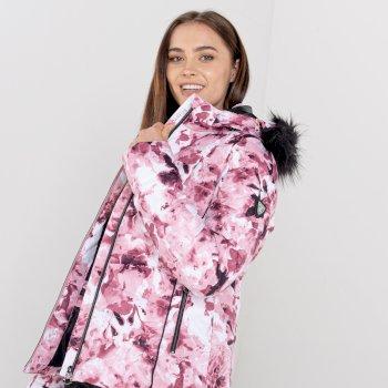 Damska kurtka zdobiona kryształkami Swarovski Dare2B Glamorize II różowa