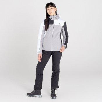 Dare 2b - Women's Ice Gleam II Waterproof Insulated Ski Jacket Ash Grey Marl Black