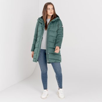 Swarovski Embellished - Women's Reputable Longline Jacket Royal Green