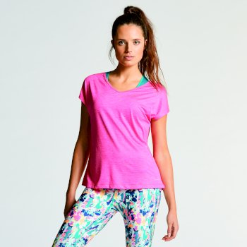Różowy t-shirt damski Dare2b Serrate