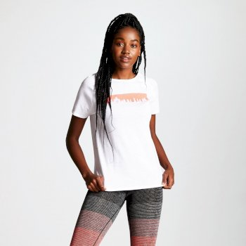 Women's Astral Forest Cutout Neck T-Shirt White