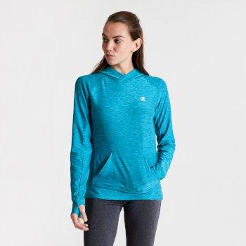 Damska bluza z kapturem Dare2B Sprint City niebieska