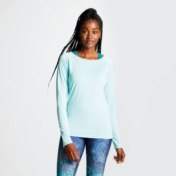 Dare 2b - Women's Riposte Long Sleeve Cutout Top Aruba Blue