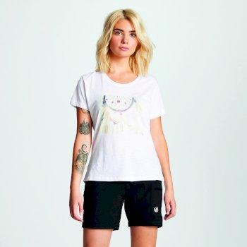 Damski t-shirt Dare2b z nadrukiem biały