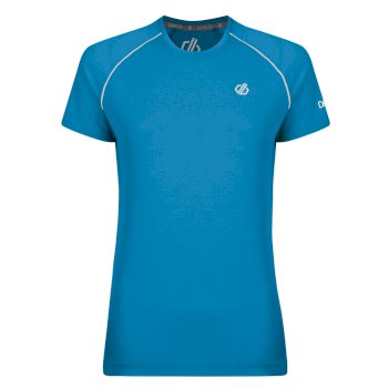 Niebieski damski wełniany t-shirt Instate