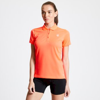 Dare 2b - Women's Set Forth Polo Shirt Fiery Coral
