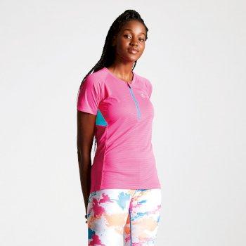 Różowa bluzka damska rowerowa Dare2b Jersey