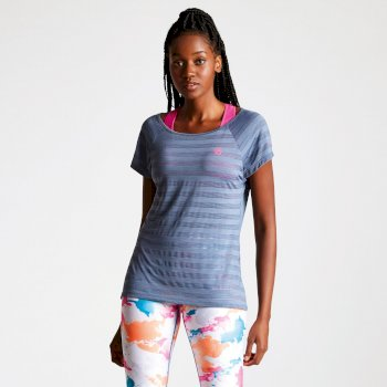 Dare 2b - Women's Efficiency Ventilated T-Shirt Meteor Grey