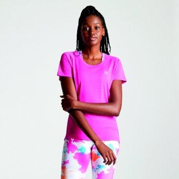 Różowy t-shirt damski Oscillation