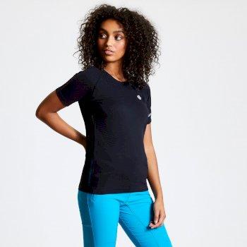 Damska koszulka Seamless czarna