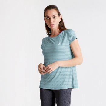 Damska koszulka termoaktywna Defy Dare2B jasnoniebieska