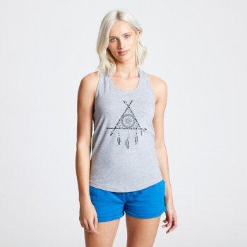 Damska koszulka na ramiączkach Akin Dare2B szara