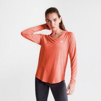 Damska koszulka z długim rękawem Discern Dare2B koralowa