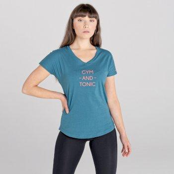 Damska koszulka Moments niebieska