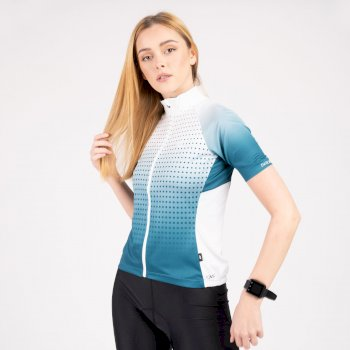 Damska koszulka Propell Dare2B niebiesko-biała