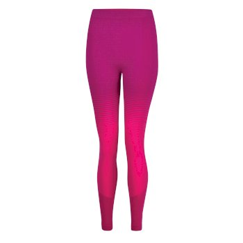 Women's In The Zone Performance Base Layer Leggings Cyber Pink Gradient