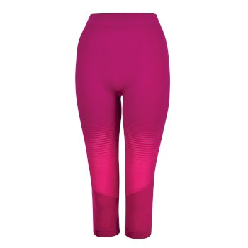 Dare 2b - Women's In The Zone Performance Base Layer 3/4 Leggings Cyber Pink Gradient