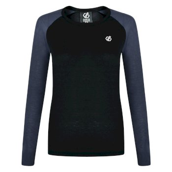 Dare 2b - Women's Exchange Long Sleeved Thermal Base Layer Top Black Ebony Grey