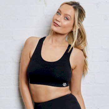 Dare 2b - Women's Don't Sweat It Medium Impact Sports Bra Black