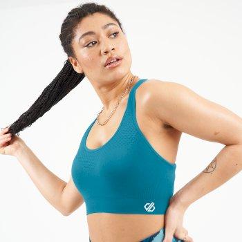 Dare 2b - Women's Don't Sweat It II Medium Impact Sports Bra Freshwater Blue