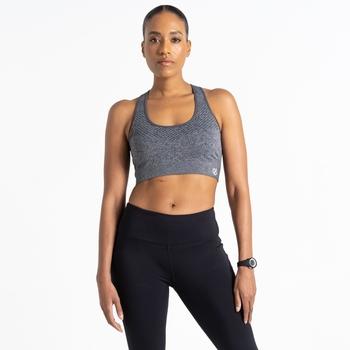 Dare 2b - Women's Don't Sweat It Medium Impact Sports Bra Ebony Grey