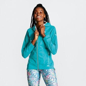 Women's Reconfine Lightweight Hooded Waterproof Jacket Caribbean Green