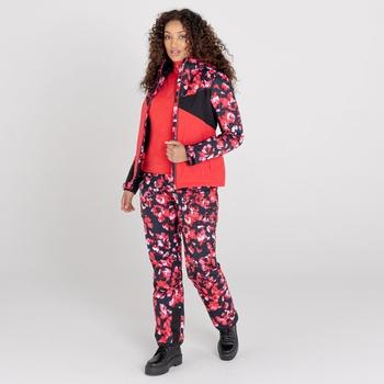 Dare 2b - Women's Liberty II Waterproof Insulated Ski Pants Lollipop Red Blossom Print