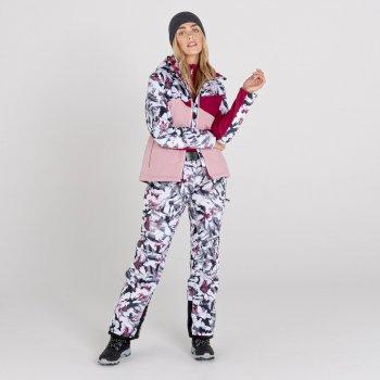 Dare 2b - Women's Liberty II Waterproof Insulated Ski Pants Powder Pink Tempest Print