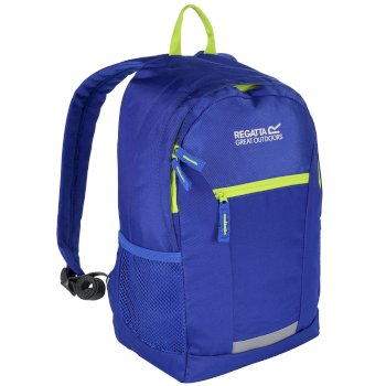 Kids' Jaxon Ill 10L Rucksack Oxford Blue Lime Zest