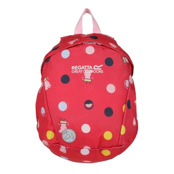 Peppa Pig Roary Animal Backpack Bright Blush Polka