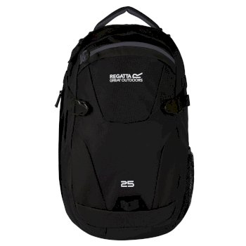EU136_06N: Paladen 25L Laptop Backpack Black Ebony