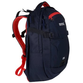 Paladen 25L Laptop Backpack Navy Red Sky