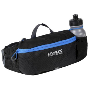 Quito Hardwearing Bottle Holder Hip Pack Black French Blue