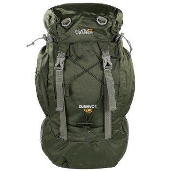 Zielony plecak turystyczny Survivor III 45L
