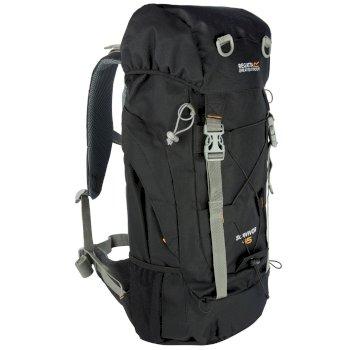 Czarny plecak turystyczny Survivor III 45L