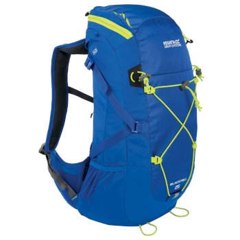 Blackfell II 25 Litre Backpack with Hydration Storage Pocket Blue Lime Zest