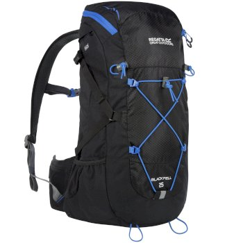 Blackfell II 25 Litre Backpack with Hydration Storage Pocket Black French Blue